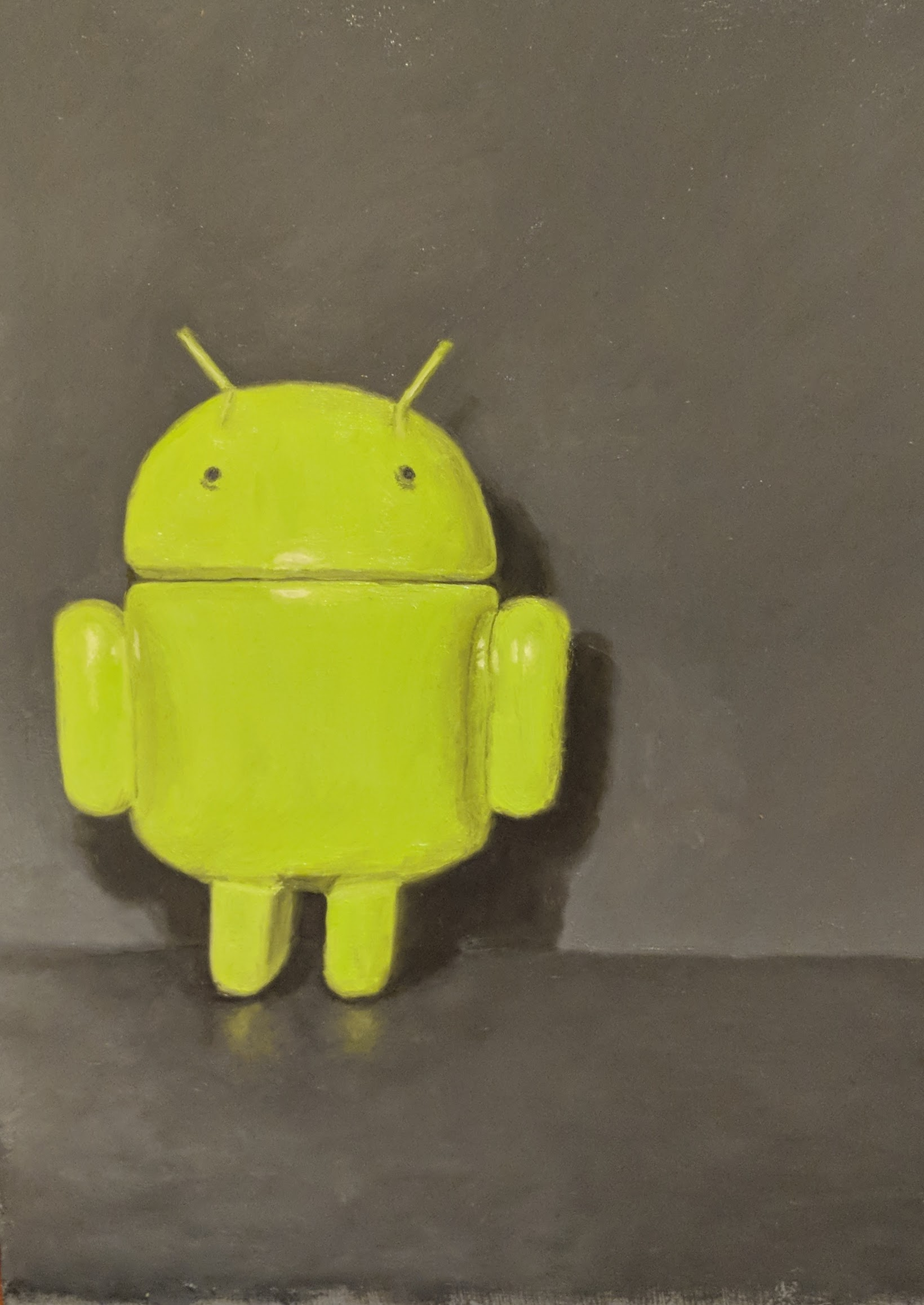 Android, oil on panel